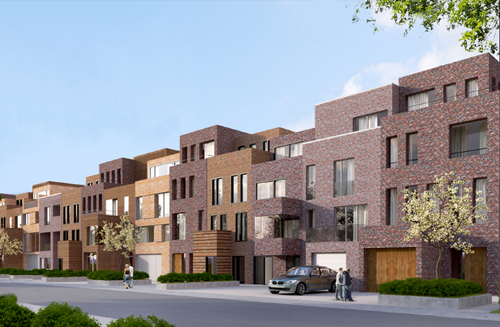 Neubauprojekt in der Finkenau in Hamburg: upTOWNHOUSES. Foto: ICON IMMOBILIEN GmbH